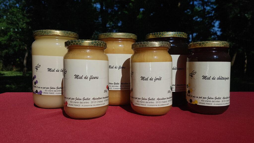 Miel de fleurs, miel de forêt, miel de châtaignier, miel de lavande...